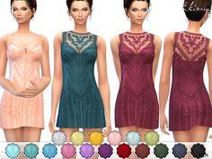 The Sims Resource: Romantic Mini Dress by ekinege • Sims 4 Downloads