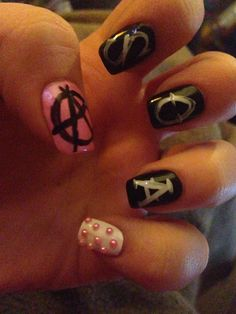 sons of anarchy nail art | Share
