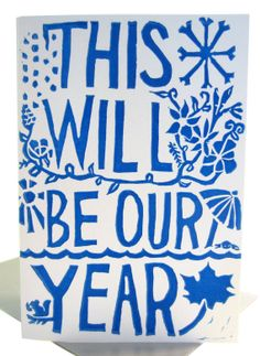 this will be our year  // blue new years eve card by foreignspell