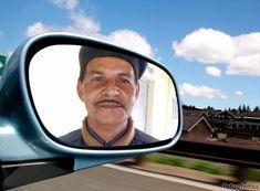 Fotomontagem com sua foto em um espelho de carro. - fotoefeitos.com Happy Diwali Pictures, Car Mirror, Photomontage, Mirror, Cars, Pictures