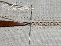 Podilsky embroidery in a single air . Swedish Embroidery, Folk Embroidery, Hand Embroidery Stitches, Hand Embroidery Designs, Ribbon Embroidery, Cross Stitch Embroidery, Stitch Patterns, Sewing Patterns, Feather Stitch