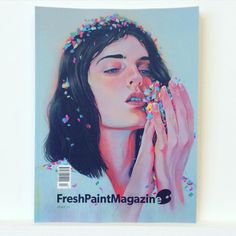 The new @freshpaintmag is #curated by #rebeccawilson from #saatchi #art. This issue looks twice as thick as the last one #freshpaintmag #painting #exhibition #gallery #show #artist #hollyfrean #martinejohanna #deanmelbourne #kellyreemtsen