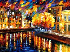 St. Petersburg — PALETTE KNIFE Landscape Oil Painting On Canvas By Leonid…