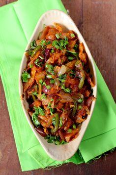 Chilli Parotta ---a classic street food popular in Tamil Nadu, is made with shredded Parotta, capsicum & sauces.
