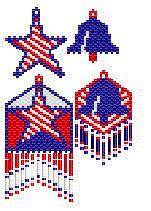Bead Pattern - Patriot Game Earring Set