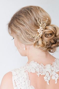 Blush Hairpiece, Bridal Hair Comb, Blush Bridal Headpiece, Rose Gold Hairpiece on Etsy, $171.91 CAD