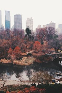 NYC. Autumn view in Central Park looking west // by AnthonyTulliani