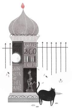 Clare Owen #cat #illustration