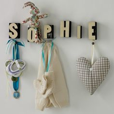 Personalised child's room - what a sweet idea!