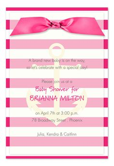 Anchored Sweetly - Birth Announcements by Invitation Consultants. (Item # IC-RLP-SH-35 )