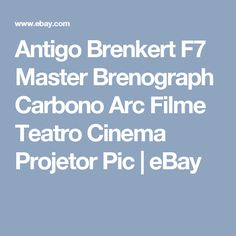 Antigo Brenkert F7 Master Brenograph Carbono Arc Filme Teatro Cinema Projetor Pic | eBay