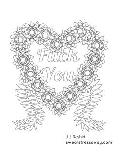 Free Swear Word Coloring Pages Adult For Grown Ups