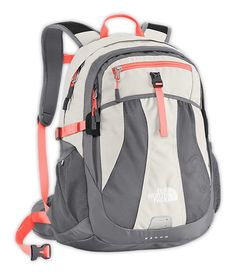 The North Face Recon Backpack Women's Ether Grey/Peach Cobbler Orange 14 The North Face, North Face Women, North Faces, Cute Backpacks, School Backpacks, Women's Backpacks, Leather Backpacks, Leather Bags, Rucksack Bag