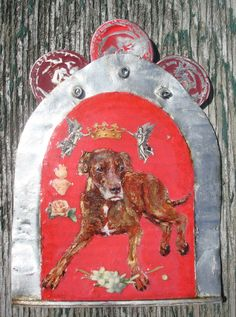 "Custom Memorial Dog Portrait Hand Painted on Recycled Tin-- completely handmade and made-to-order by artist Kirsten Reed--$195 usually, but enter COUPON CODE ""PIN15"" for 15% discount as a thank you to Pinterest viewers"