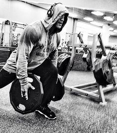This man has motivated me the most to lift heavy. #TheRock