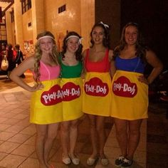 35 fun group halloween costumes for you and your friends sc 1 st samorzady Girl Group Halloween Costumes, Homemade Halloween Costumes, Theme Halloween, Cute Costumes, Group Costumes, Halloween Costumes For Girls, Costume Ideas, Diy Halloween, Zombie Costumes