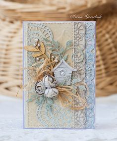 Hobby and Life: Gentle autumn - Cheery Lynn Designs - CLD dies used: -  Large Rose - B155 -  Mini Fanciful Flourish Right - B291 -  Olive Branches - B147 -  Flourish Leaf Strip - B178 -  Tiffany Border - B137 -  Ambergris Doily w / Angel Wing - DL241