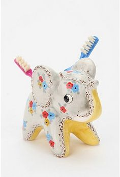 Elephant Toothbrush holder. Pretty adorable. $12