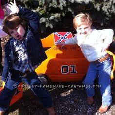 Cutest Little Dukes of Hazzard Bo and Luke Duke Costumes... This website is the Pinterest of costumes