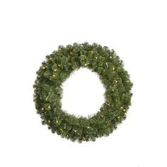Vickerman 144 Grand Teton Artificial Christmas Wreath with 1800 Warm White LED Lights. Comes in 6 sections each section is 63 long and 36 widelt/pgt Grand Teton Wreath Grand Tetonlt/ligtltligtMaterial PVClt/ligtltligtColor Count Warm W Lighted Wreaths, Artificial Christmas Wreaths, White Led Lights, Christmas Central, White Lead, Lush Green, Green Led, 3 D, Outdoor