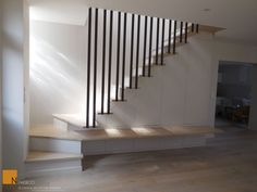My Home Remodeling Loft Stairs, Basement Stairs, House Stairs, Home Stairs Design, Interior Stairs, House Design, Escalier Design, Small Space Interior Design, Modern Stairs