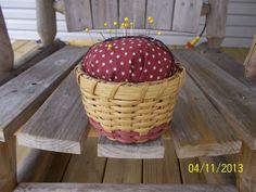 Pincushion Basket by AnitasBaskets on Etsy, $15.00
