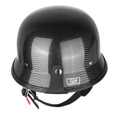 "Iglobalbuy Half Helmet DOT Carbon Fiber German Style Motorcycle Cruiser Custom Airsoft Paitball Biker M/L/XL (M). M size: 21-5/8"" - 22"" Hat size:6-7/8""- 7"". DOT FMVSS N218 approved. Clean, classic, cruiser helmet look. Perfect for cruiser, touring and scooter. Comfortable interior,Light weight durable composite shell,UV protective finished."