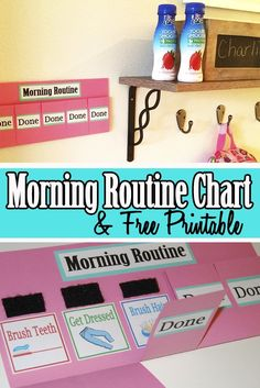 We use this morning routine chart to help us get out the door quicker. Check out how to make it and print it out for free! http://bit.ly/2bAk8G9 #LetsGoLaLa #ad