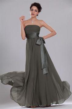 Атласное платье без бретелек