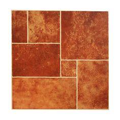 Caja 1.62 m2. 45 x 45 cm.  Tráfico medio. Color rojo.