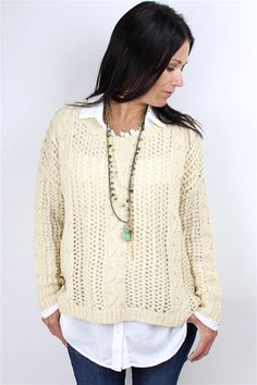 Ecru Decoy Chunky Knit Sweater from Kerisma at Rosie True