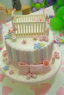 Ba by shower cake Pretty Cakes, Cute Cakes, Beautiful Cakes, Amazing Cakes, Fondant Baby, Fondant Cakes, Cupcake Cakes, Baby Cakes, Torta Baby Shower