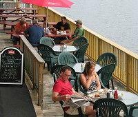 deck dining on Moosehead Lake, Greenville, Maine