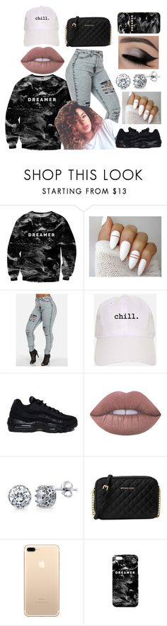 """3-day Weekend 😴😁👌🏾✨"" by lilredrose97 ❤ liked on Polyvore featuring Mr. Gugu & Miss Go, NIKE, Lime Crime, BERRICLE and Michael Kors"