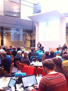Full house at #helsinkichallenge kick-off! Welcoming words by Thomas Wilhelmsson, chancellor of @helsinkiuni