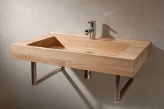 Model shown: European oak. Size: 800 x 480 x 120 mm (l x w x h). Delivery time: standard sizes wooden sinks 10 weeks after order. Model 'Vincent van Gogh' is designed towards the drain so that all the water runs out. The bottom is made in a way that together with the milled top you get the illusion that the sink is flat. For this sink we used a beige glue so the lines and drawings of the wood become even more beautiful and more smoothly into one another. Follow us on Twitter @VWDutchDesign