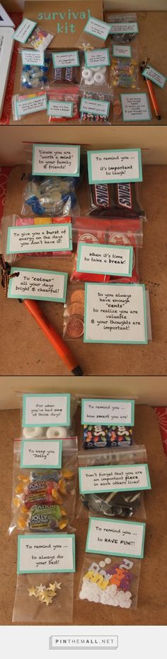 UNIVERSITY SURVIVAL KIT - Created this using a ideas from different survival kits posted on Pinterest.                                                                                                                                                     More