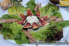 Salada com Figos e Cream Cheese