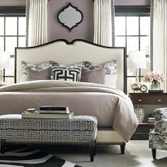 Presidio Upholstered Bed by Bassett Furniture #headboard