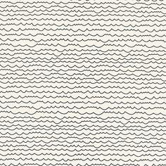 Schumacher - WAVES wallpaper in Black & White colorway