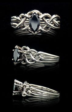 Celtic puzzle ring marquise diamond | black-diamond-engagement-rings-puzzle-rings.jpg