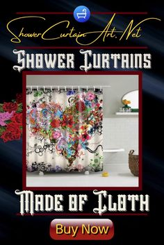 Drastically enhance your bathroom decor with a soft & stylish fabric shower curtain from Shower Curtain Art! Shower Curtain Art, Floral Shower Curtains, Shower Accessories, Downstairs Bathroom, Bathroom Fixtures, Home Accents, Fabric Flowers, Soft Fabrics, Vibrant Colors