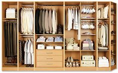 Fitted wardrobe -well that's a bit space right there!