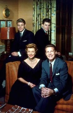 The Adventures of Ozzie and Harriet. This show ran for 435 episodes over 14 seasons! Real-life family, Ozzie and Harriet Nelson, and their sons, David and Ricky. Father Knows Best, Ricky Nelson, David Nelson, Old Shows, Famous Couples, Classic Tv, Classic Movies, Old Tv, Tv On The Radio