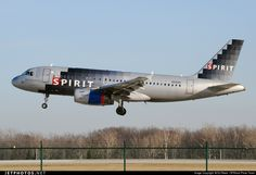 Spirit Airlines Airbus A319-132 N510NK 2622 Cleveland-Hopkins Int'l Airport - KCLE