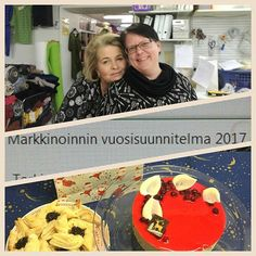 Johanna and Annika planned new #marketing strategies for next year. #cantwait ! We all enjoyed a tasty coffee break with our colleagues ❤ #myllymuksut #muksupuoti #juupajoki #finland