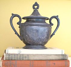 vintage silver with book http://mysoulfulhome.com