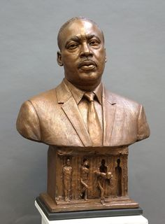Famous Bronze Bust of Martin Luther King Jr. for Sale Wassily Kandinsky, Martin Luther King, Freedom Sculpture, Southern Christian Leadership Conference, King Jr, Bronze Sculpture, Portraits, Natural, Beautiful