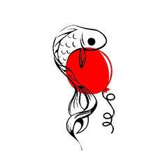 """Baliklar da uçar     Kim demiş baliklar uçamaz diye, bir """"kirmizi balon"""" ile herşey yapılabilir.              Kurşun kalem 8B - Uçlu kalem 0,5 mm 2B & inkscape Snoopy, Sketches, Fictional Characters, Art, Drawings, Art Background, Kunst, Performing Arts, Doodles"""
