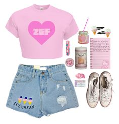 """summer nymphet"" by naughty-nymphets ❤ liked on Polyvore featuring Converse, Mason's, Pink, summertime, nymphet and zef"
